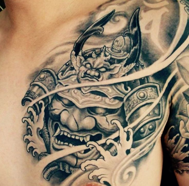 Pin by lucky tattoo thailand on japanese tattoos for Japanese style chest tattoos
