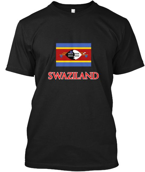 Swaziland Flag Design Black T-Shirt Front - This is the perfect gift for someone who loves Swaziland. Thank you for visiting my page (Related terms: Flag Swaziland,I Heart Swaziland,Swaziland,Swazi,Swaziland Travel,I Love My Country,Swaziland Flag,  #Swaziland, #Swazilandshirts...)