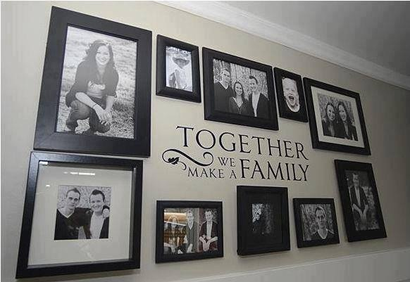 Great way to use Uppercase Living expressions to accent a gallery of family pictures! Love this idea! Find your favorite family expression at http://lizmyers.uppercaseliving.net