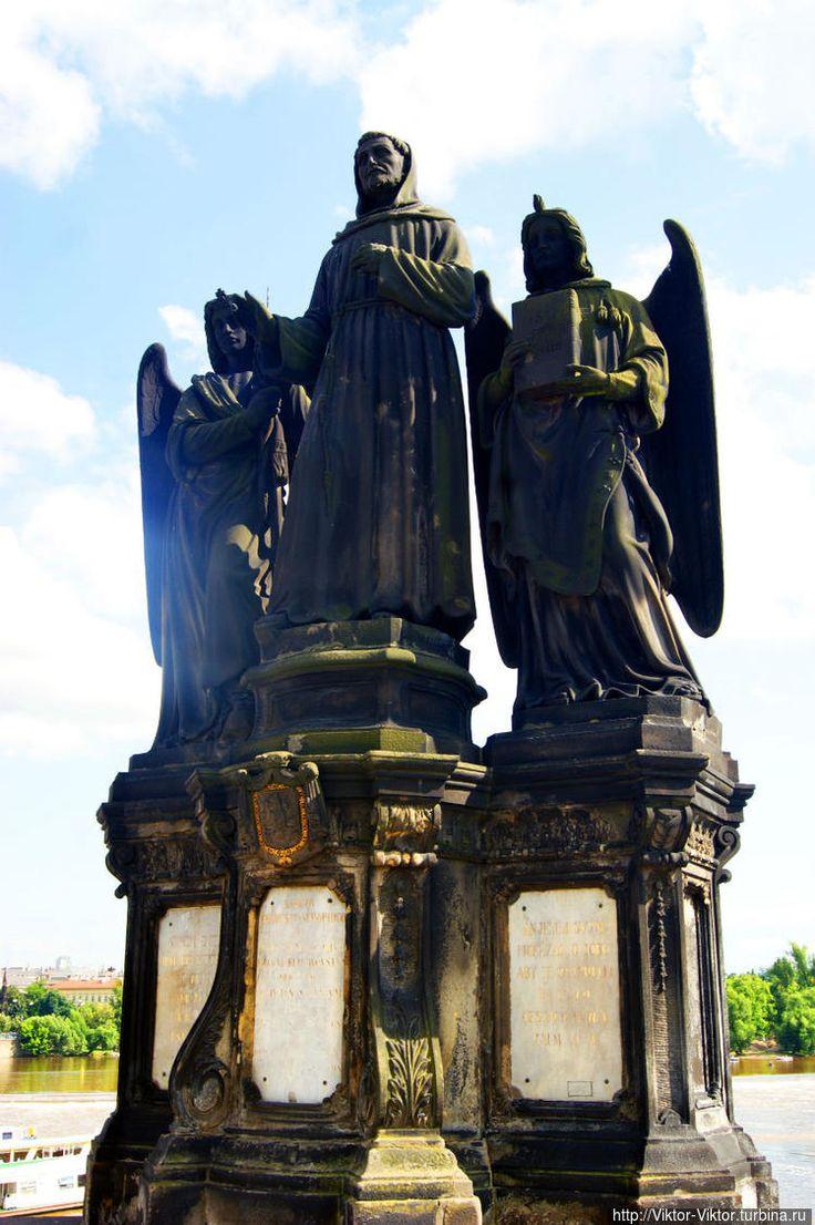 Святой Франциск Ассизский, католический монах и проповедник, основатель названного его именем нищенствующего ордена францисканцев (1855 год, Эмануил Макс).