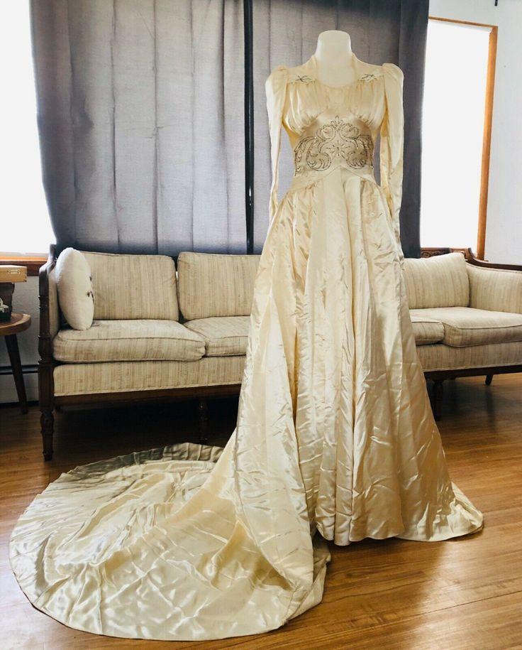 26++ Satin button back wedding dress ideas