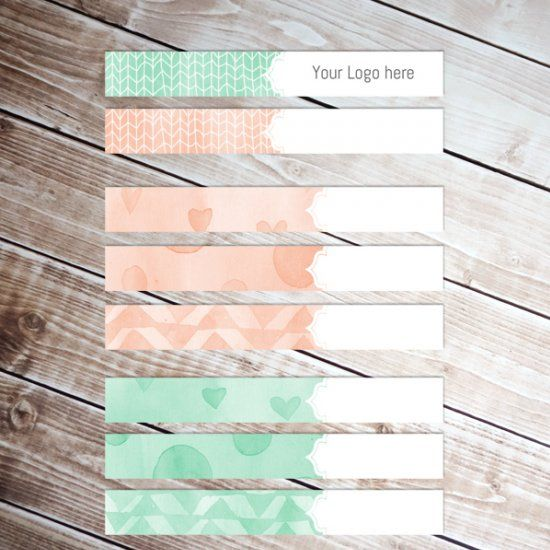 free watercolor banners to download for your blog.