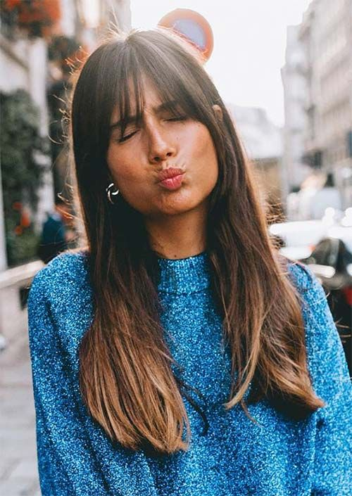 55 Dope Lengthy Haircuts with Bangs: Suggestions for Carrying Fringe Hairstyles