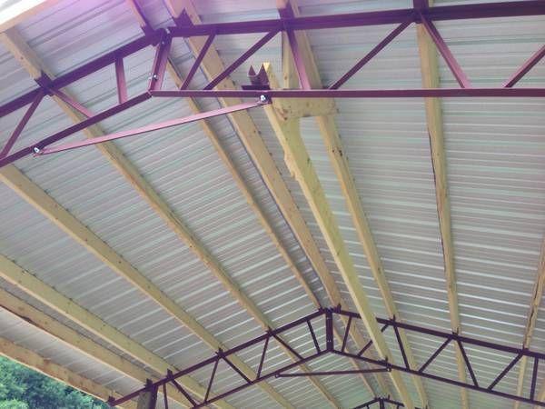 3 20 Pole Barn Steel Trusses Steel Trusses Pole Barn Pole Barn Garage