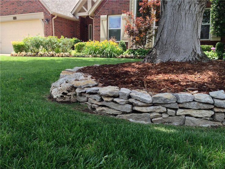 48 best images about under tree garden ideas for mom on for Rock wall garden