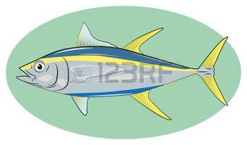 oceaan%3A+tona+marine+oceaan+voedsel+natuur+Stock+Illustratie