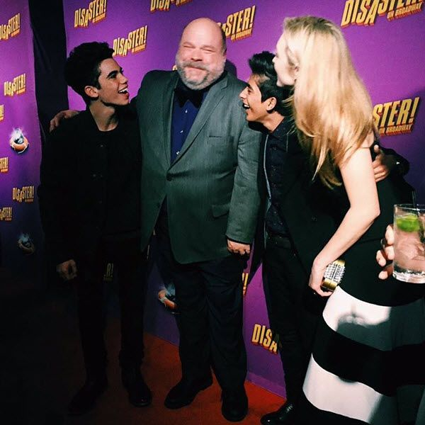 Karan Brar, Cameron Boyce and Peyton List had a chance to be in New York on March 8, 2016, and watch their Jessie co-star Kevin Chamberlin in his broadway p
