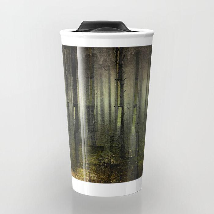 Why am I here Travel Mug by HappyMelvin. #nature #darkforest #forests #original #travelmug #mugs