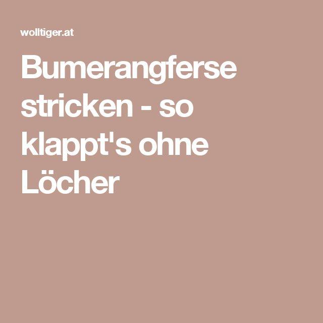 Bumerangferse stricken - so klappt's ohne Löcher