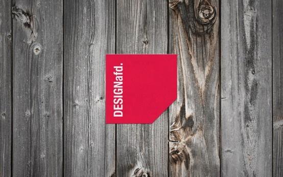 DESIGNafd. logo on wooden background