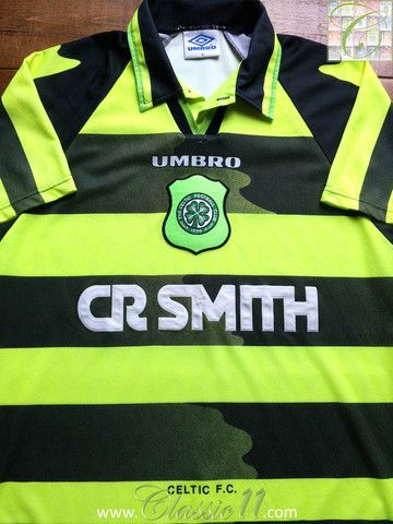 Relive Celtic's 1996/1997 season with this vintage Umbro away football shirt.