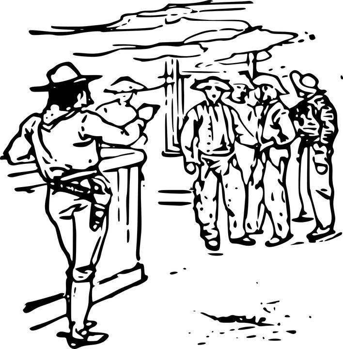 Ocidental, Bar, Xerife, Álcool, Cowboys, Salão, Arma