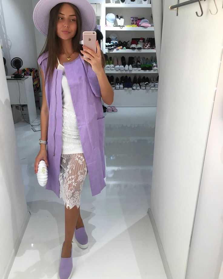 Отличная погода и настроение😍🍭☀️ платье с кружевом✨ фиалковый и розовый жилет,дополнит изюминку в ваш образ💜💜💜 Шляпки в разных цветах👒 слипы фиалка,голубые,мятные👟 для заказал информации ☎️+79260464670whatsapp,Viber