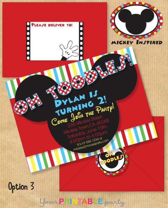 Mickey Mouse Inspired Deluxe Birthday Party por YourPrintableParty