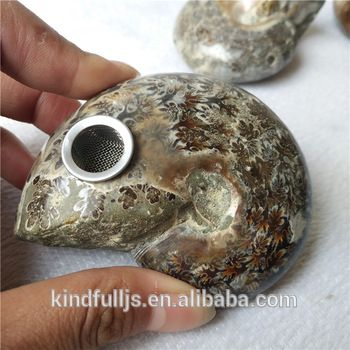 new product ammonite fossil crystal smoking pipe for sale