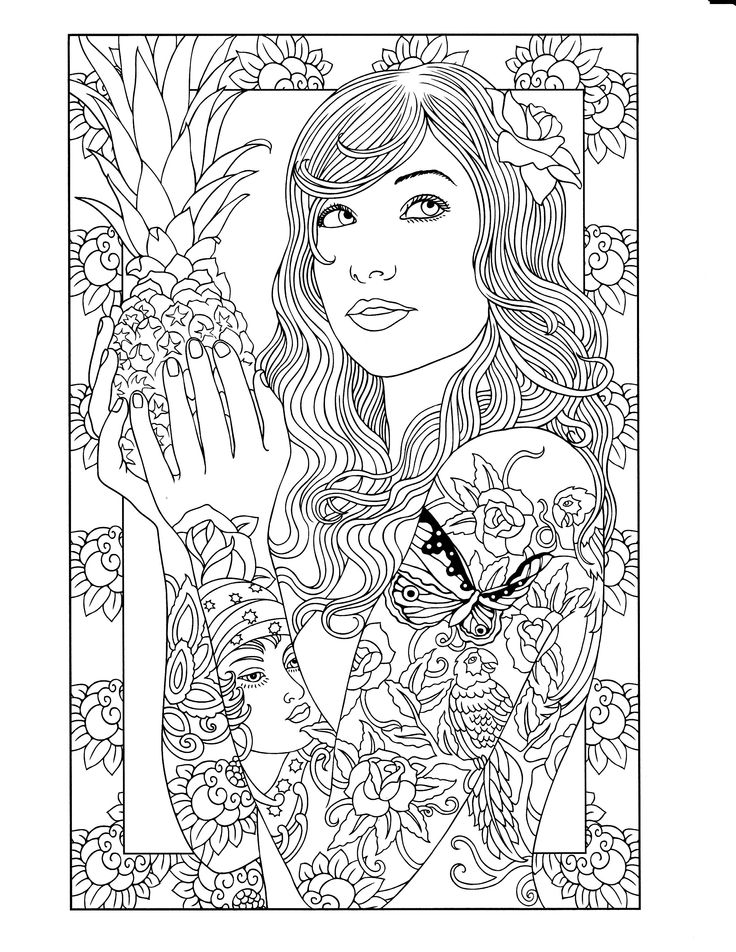 tattoo printable coloring page - Tattoo Coloring Books