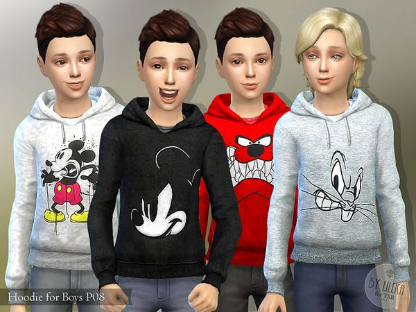 Lana CC Finds - Hoodie for Boys P08 by lillka