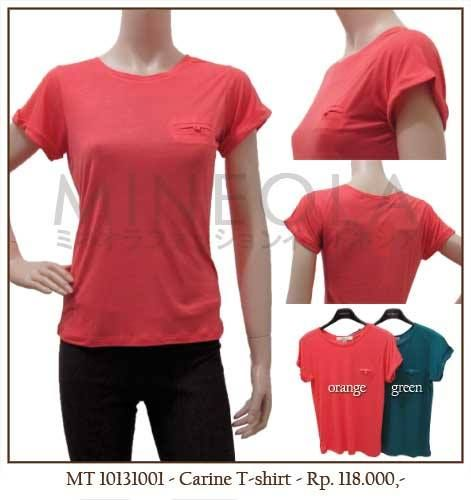 MINEOLA Carine T-Shirt Orange. Also available in green color. Only Rp.118.000,- Fabrics: cotton. Product code: MT10131001.  [Size M/L] Bust: 90cm - Length: 60cm - Sleeve: 15cm [Size L/XL] Bust: 95cm - Length: 65cm - Sleeve: 20cm   #MINEOLA #myMINEOLA #iWearMINEOLA #Fashion #OnlineShop #Indonesia #Jakarta #Brand #Import #Dress #Blouse #Top #Pants #Skirt #TokoBajuOnline #BajuImport #IndonesiaOnlineShop #OnlineShopIndonesia #FashionOnlineShop