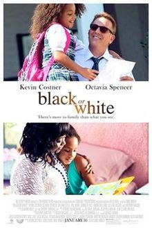 """Two top actors, Octavia Spencer and Kevin Costner, star in this 2015 film, Black or White. Spencer said, """"This is one of the few movies (that actually) deals with race, because people like to skirt around those things. But this is very direct."""""""