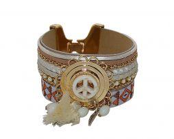 BRACE ME PEACE & AZTEK SMALL – WIT 13,95 bij sevenbien.nl  #bracelet #armband #mode #pace #aztec