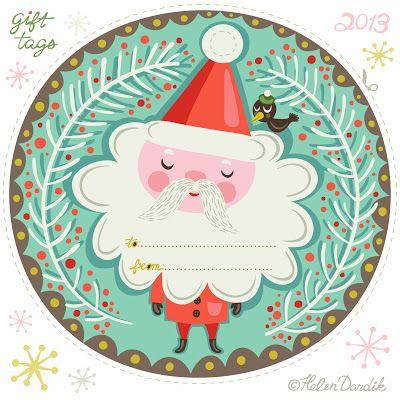 Free printable Santa gift tags. Cuteness.