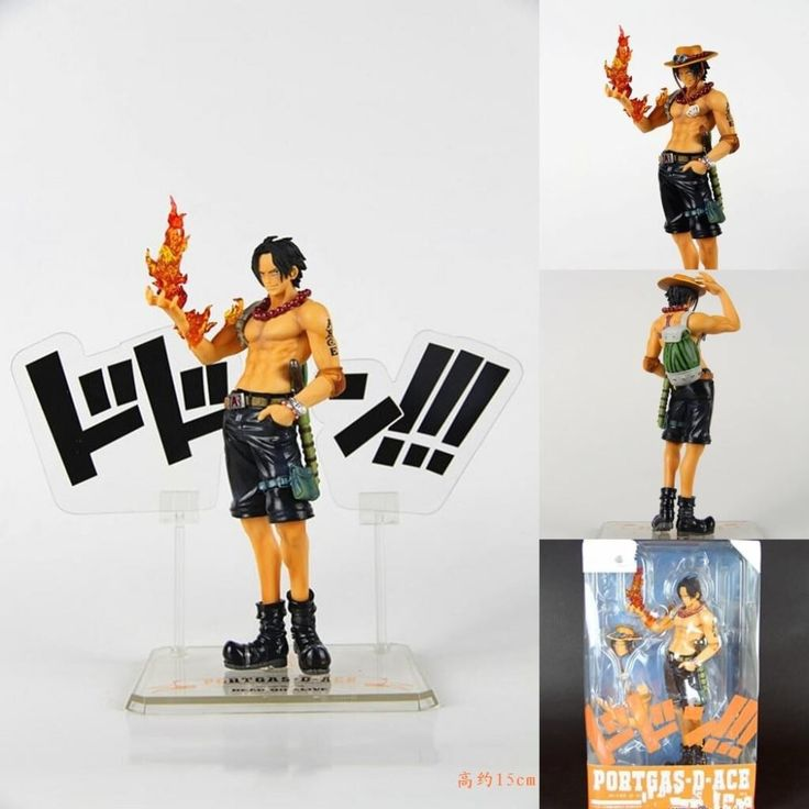 One Piece Figure Ace 5th Anniversery Collectible Action Figure 15CM Ace PVC Cartoon Figurine One Piece AceToys Juguetes KB0574 #Affiliate