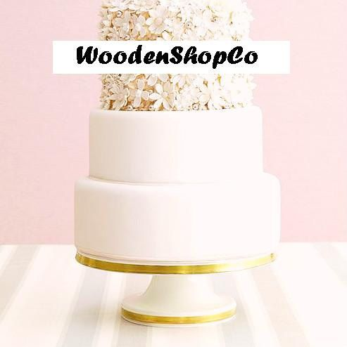 Custom Gold cake stand Wedding cake stand Golden by WoodenShopCo