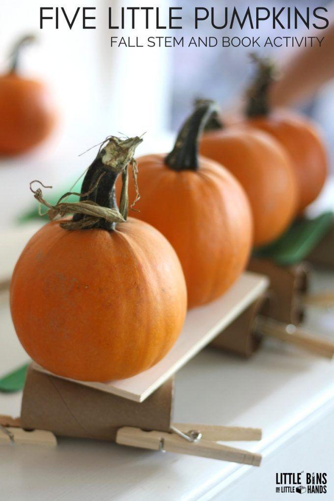 Five Little Pumpkins STEM Challenge and Book Play