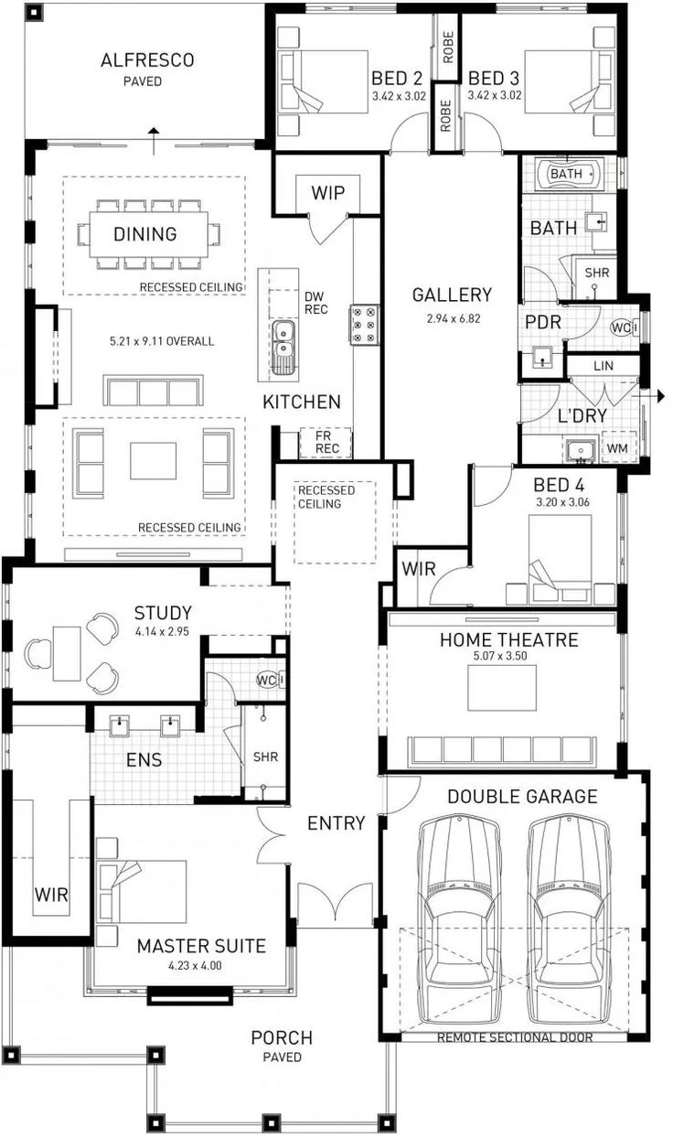 New Hampton, Single Storey Home Design Display Floor Plan, WA