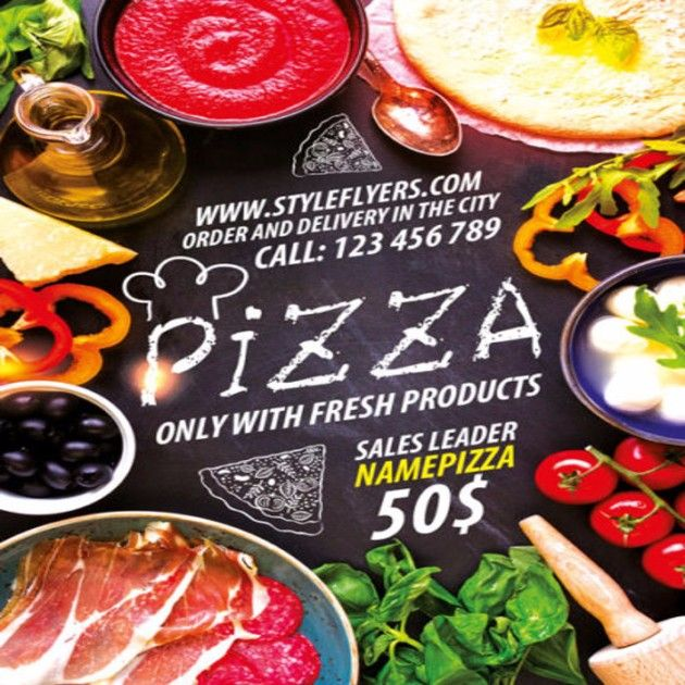 20 Pizza Flyer Template Free Download In PSD, AI, Vector EPS Format