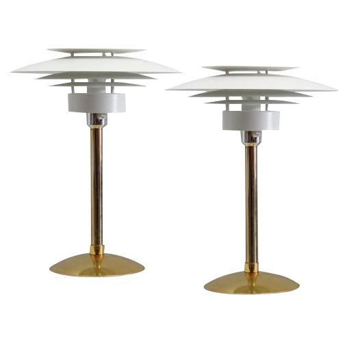 Image of Scandinavian Table Lamps - A Pair