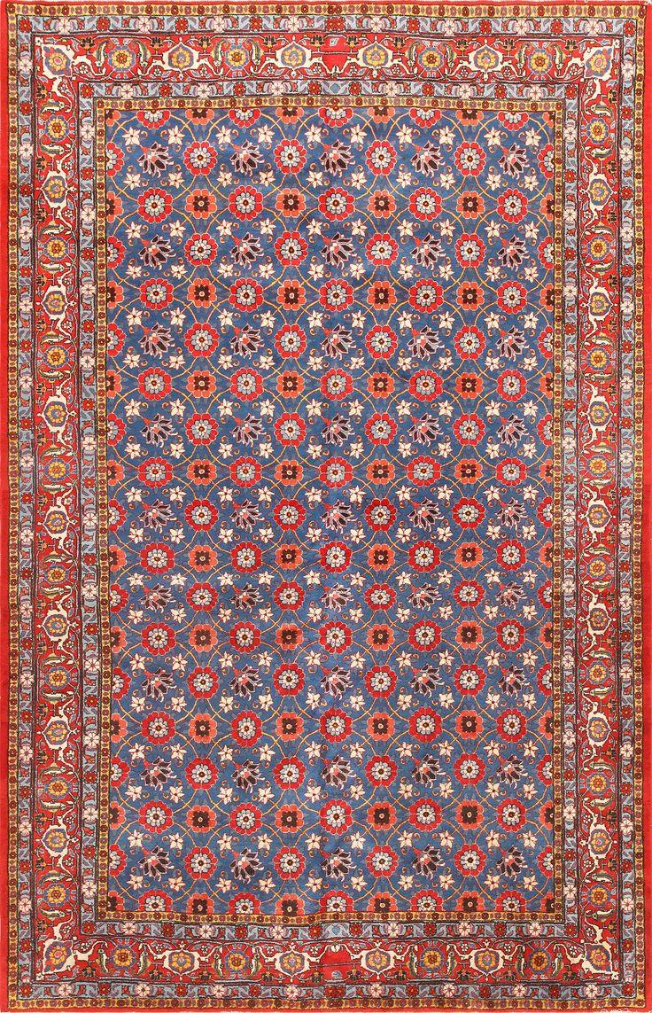 Vintage Persian Tabriz Rug 47779 Detail/Large View - By Nazmiyal