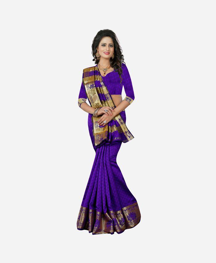 Best Banarasi Sarees Online Shopping from Renzza. Buy Purple Banarasi Silk Sarees, Latest New Sari Online in USA, UK, Canada & India.