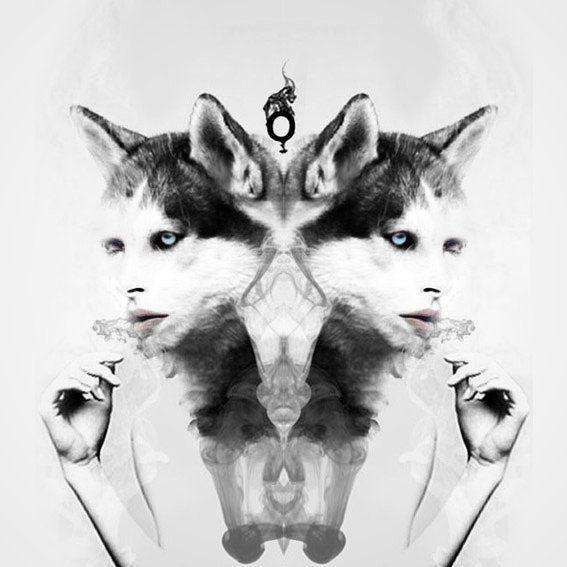 "#throwback ""Trans-O-animale woOf puff with the wOlf""  #o #smokieghost #transformation #mutation #animagus #wolf #digitalart #digitalcollage #illustration #darkart #smokesart #puff  #fantasy #weird #opyart #igdungeon"