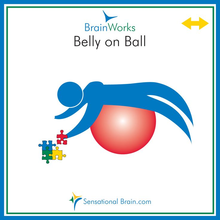 What is a sensory diet? BrainWorks site--great sensory diet stuff! Lay on a ball on the tummy to do a project like puzzles and games! Wake up the brain and increase core strength.