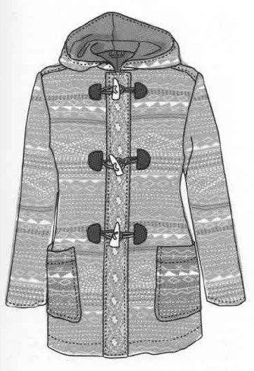 Ladies coat, free pattern to download