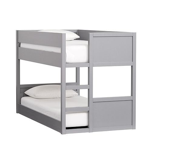 Camden Twin-over-Twin Low Bunk Bed -- I always wanted bunk beds & I want my kids to have them!