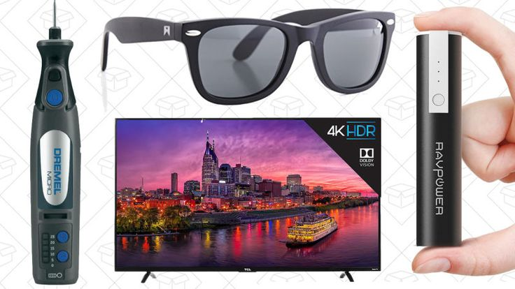 William Painter sunglasses, a one-day Dremel sale, and a fantastic 4K TV lead off Tuesday's best deals from around the web.      Today's Best Lifestyle Deals: William Painter Sunglasses, Peter Thomas Roth, Rebecca Minokoff Discounted travel-sized products from Peter Thomas Roth,...-http://trb.zone/todays-best-deals-4k-tv-dremel-gold-box-one-day-sunglass-sale-and-more.html