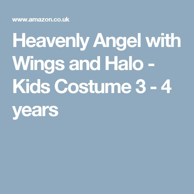 Heavenly Angel with Wings and Halo - Kids Costume 3 - 4 years