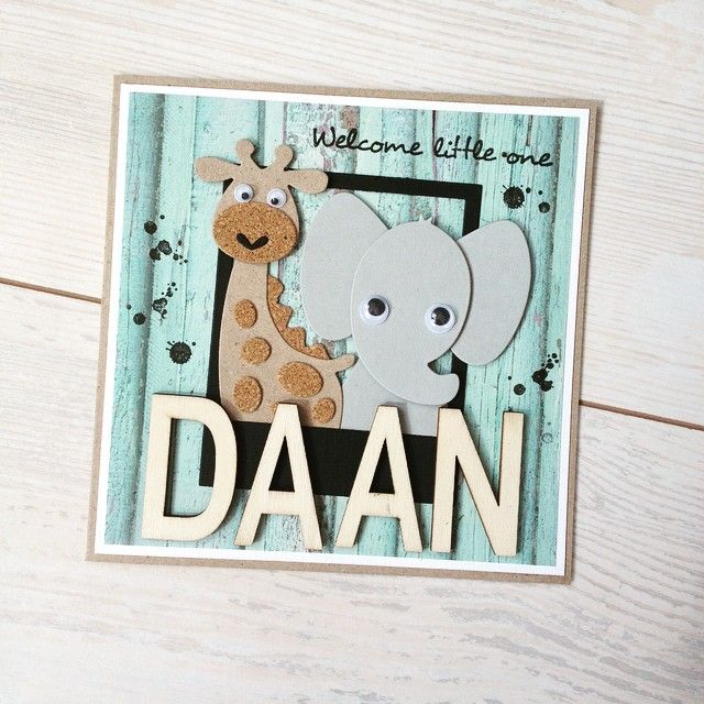 Welcome little Daan (Scrapcards and Stuff)