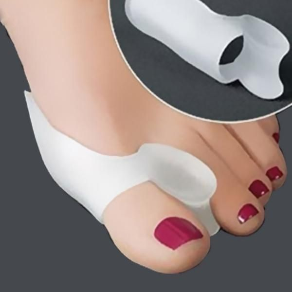 [Visit to Buy] feet care silicone toe separators toe orthosis toe protective case thum valgus protector union adjuster foot care tool #Advertisement