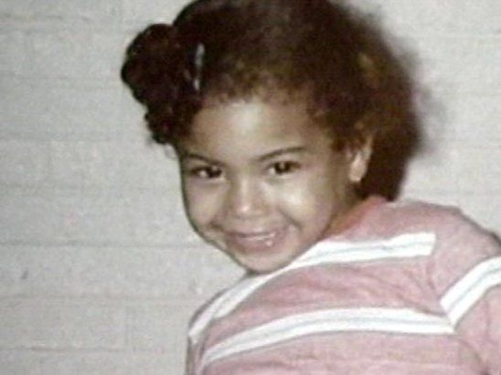 Young Beyonce Knowles..funny how people say it's all makeup..yet it's clear she's always been pretty..aww