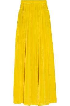 Tibi Pleated silk crepe de Chine maxi skirt | NET-A-PORTER