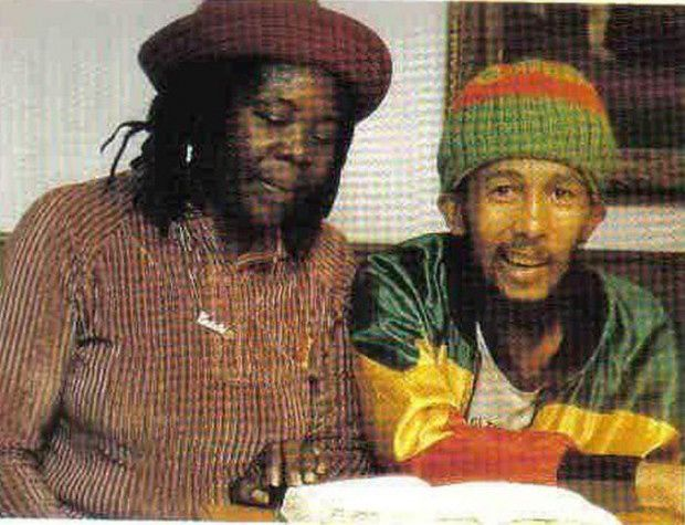 Bob Marley and his mother Cedella Booker in 1981 before his passing.