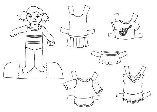 Dibujo Para Colorear Niño Y Niña: Dibujos De Ropa De Niña Para Colorear