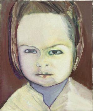 Helena - 1992 - by Marlene Dumas (South African, b. 1953) - Oil on canvas - 62x50cm. - http://www.artthrob.co.za/07dec/images/dumas_07a.jpg