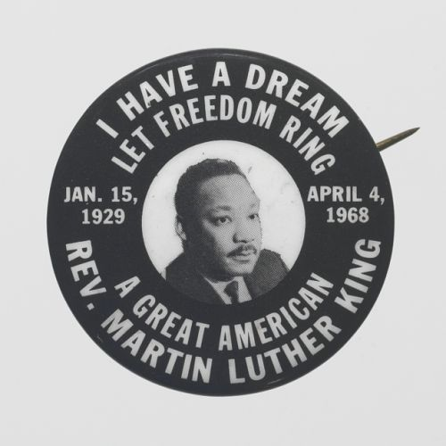 Image for Pinback button of Rev. Martin Luther King, Jr.