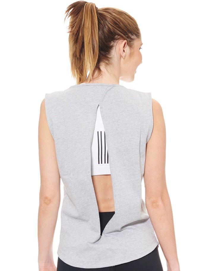 Women's Grey Muscle Tank - Jaggad