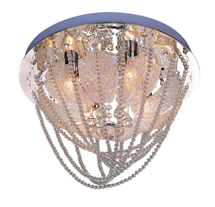 Plafon AVIGNON 4x40W + LED Lampex srebrny 613/4