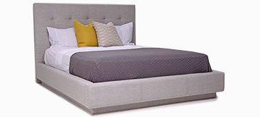Lit rembourré Rachel. Upholstery bed Rachel. Modern bed with nodust bedbase.